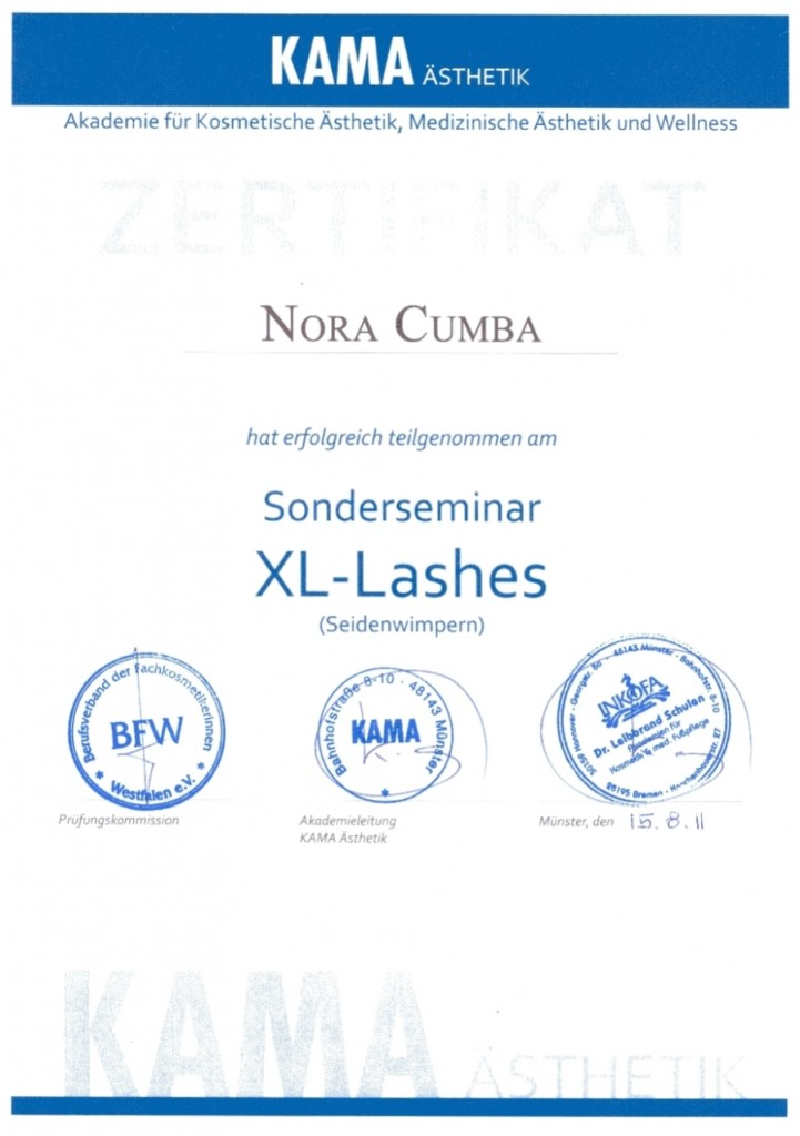 130305_Zertifikat_Sonderseminar_XL-Lashes (Seidenwimpern)